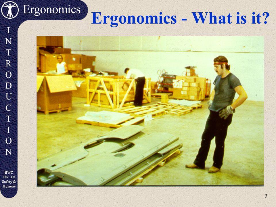Ergonomics - What is it
