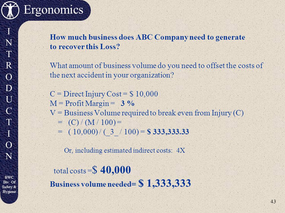 How much business does ABC Company need to generate