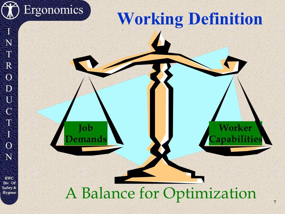 A Balance for Optimization