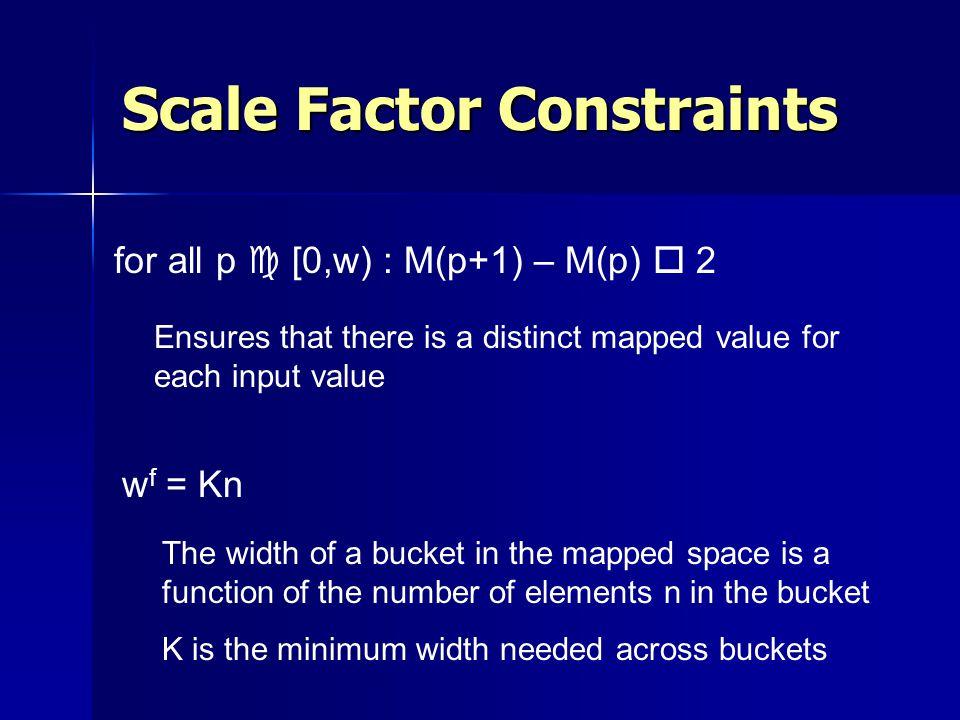Scale Factor Constraints