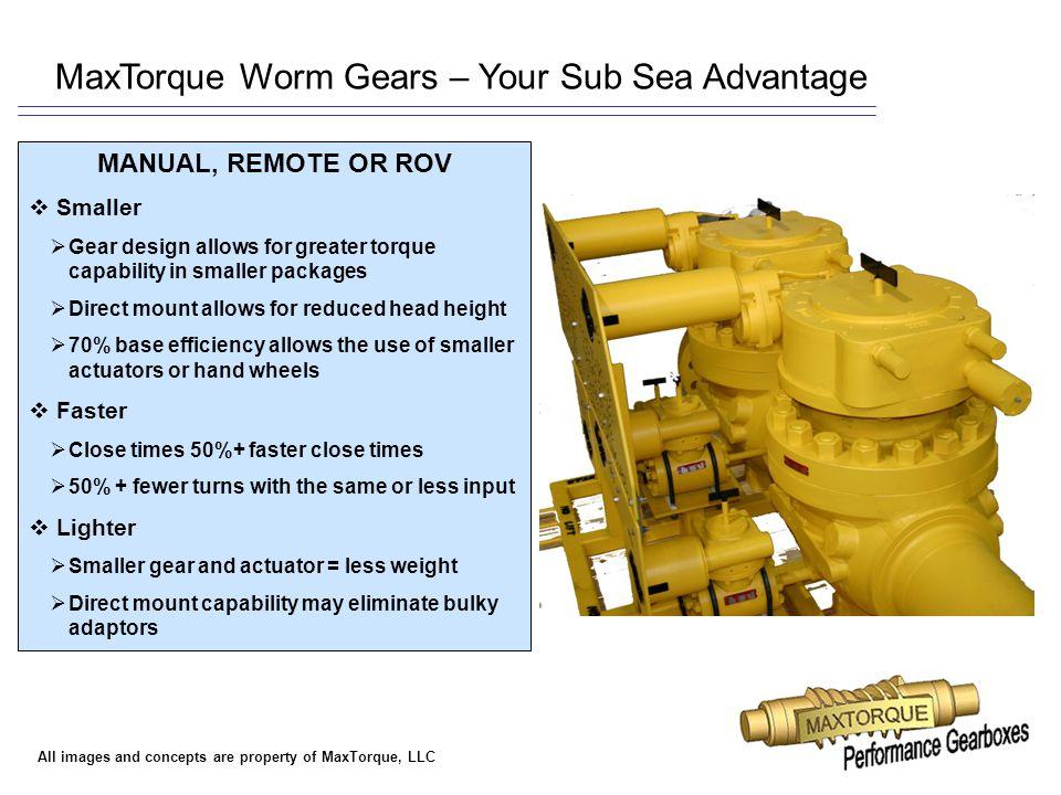 MaxTorque Worm Gears – Your Sub Sea Advantage