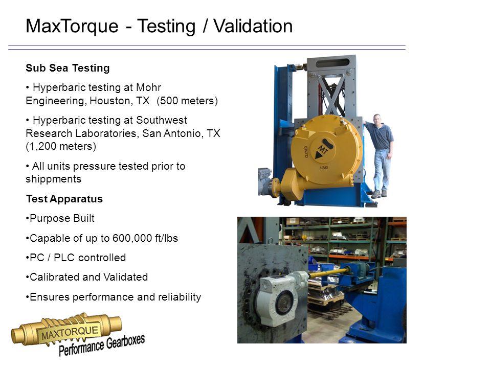 MaxTorque - Testing / Validation