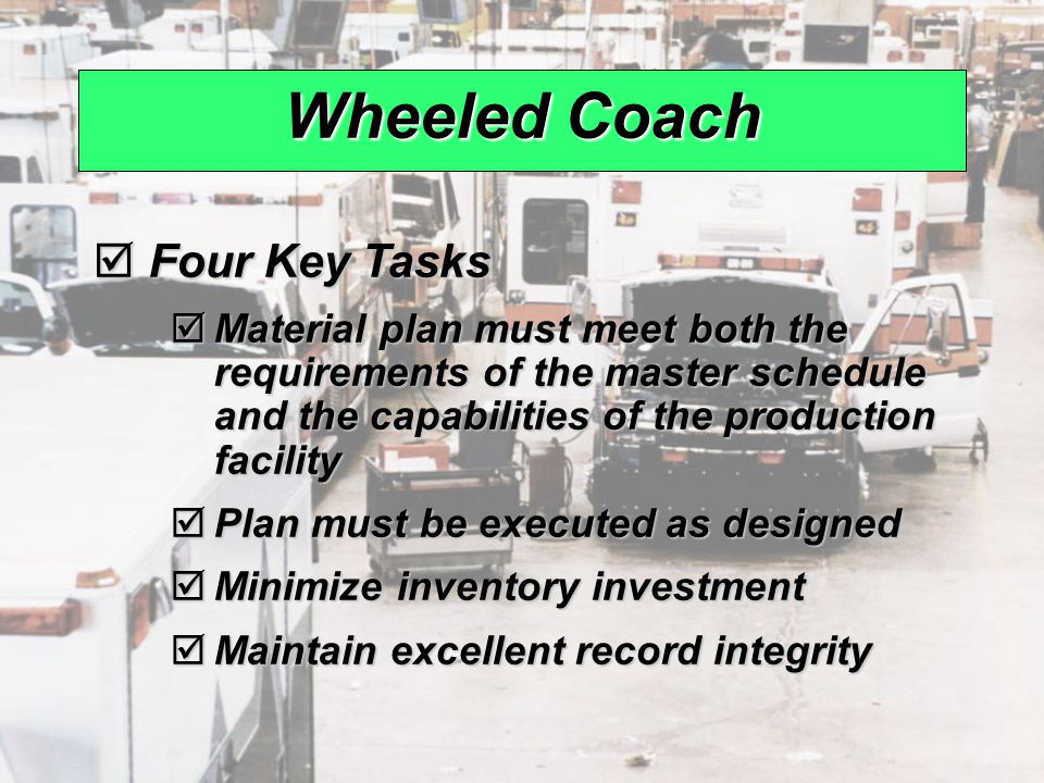Wheeled Coach Four Key Tasks
