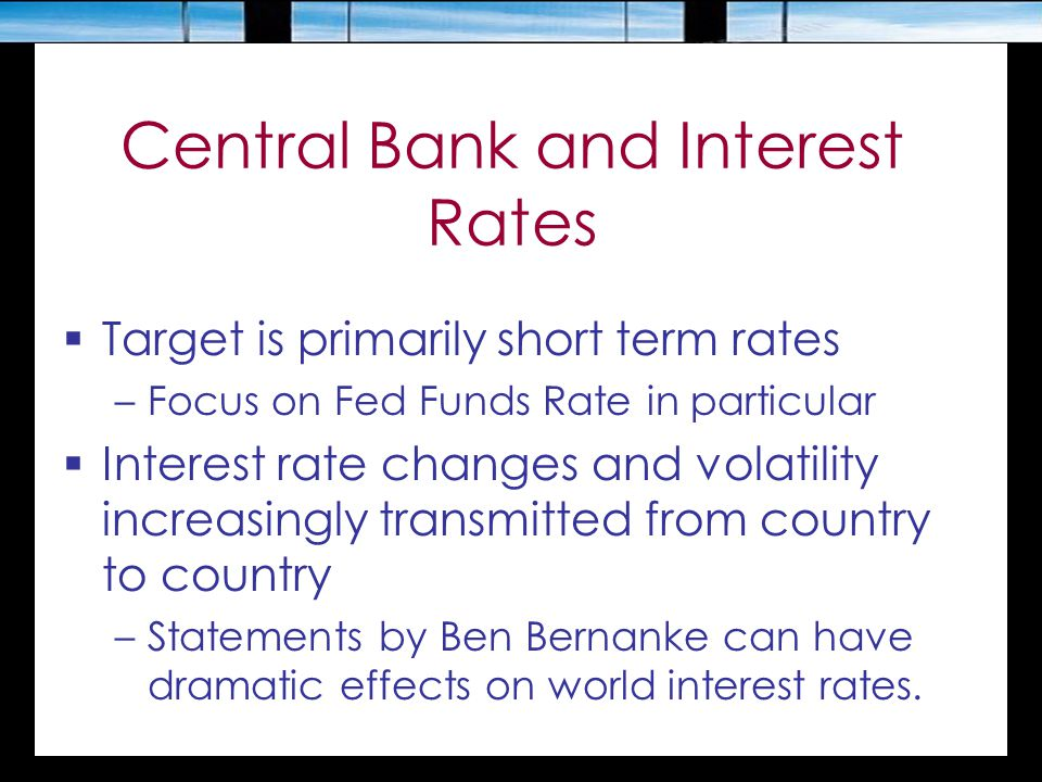 Central Bank and Interest Rates