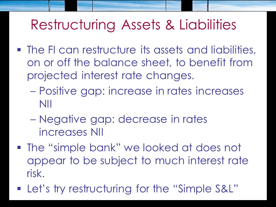 Restructuring Assets & Liabilities