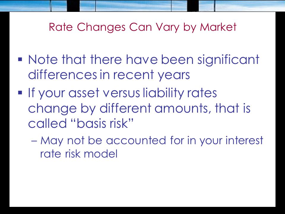 Rate Changes Can Vary by Market