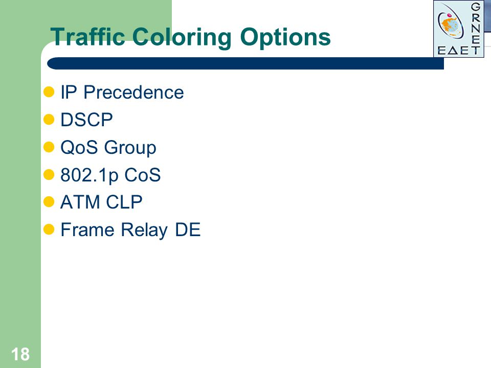 Traffic Coloring Options