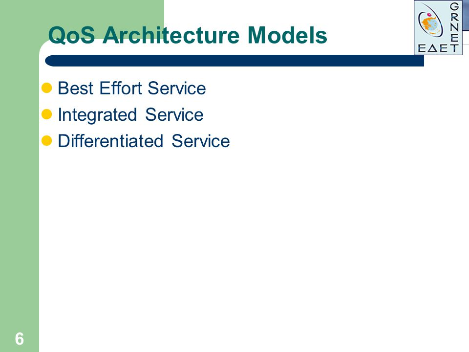 QoS Architecture Models