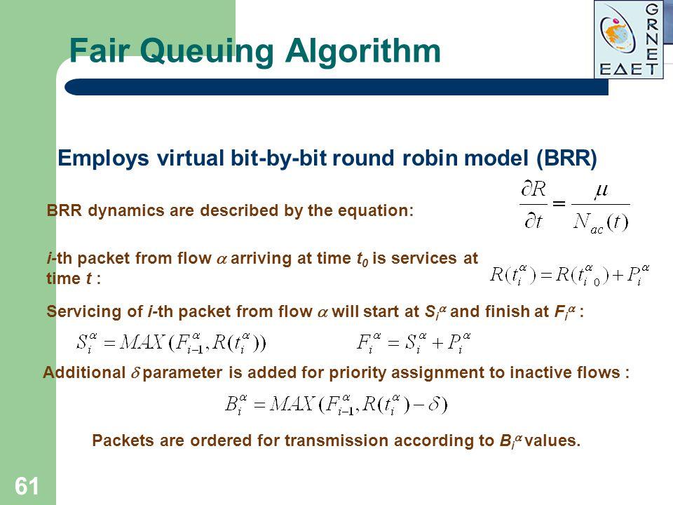 Fair Queuing Algorithm