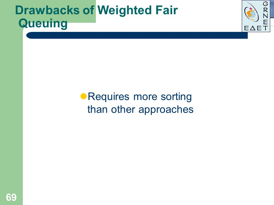 Drawbacks of Weighted Fair Queuing