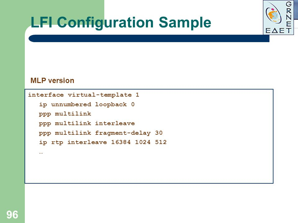 LFI Configuration Sample