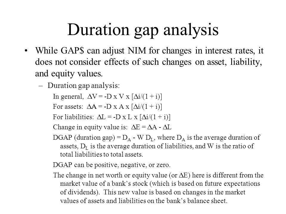 Duration gap analysis