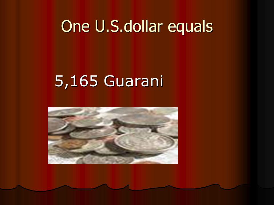 One U.S.dollar equals 5,165 Guarani