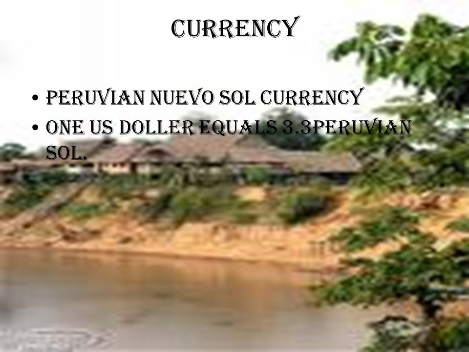 Currency Peruvian nuevo sol currency