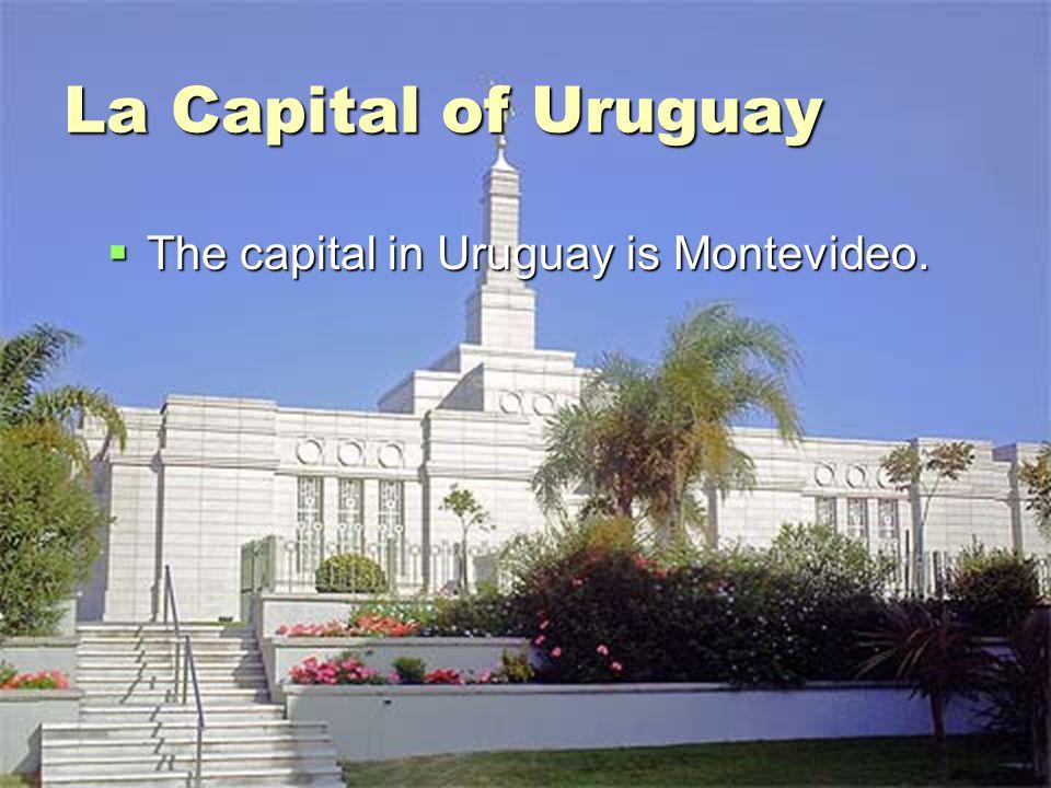 La Capital of Uruguay The capital in Uruguay is Montevideo.