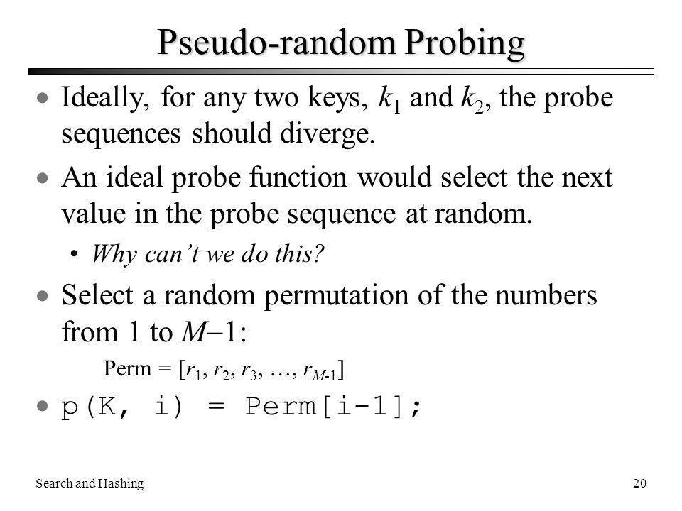 Pseudo-random Probing