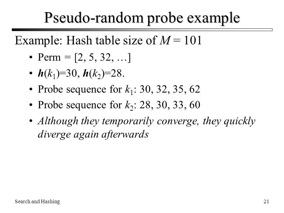 Pseudo-random probe example