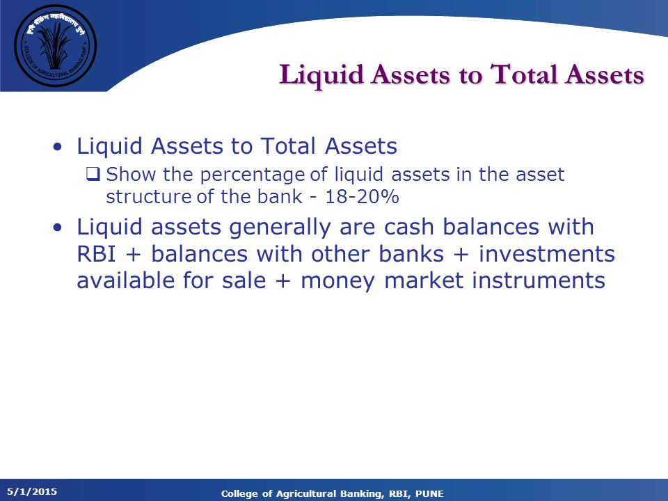 Liquid Assets to Total Assets