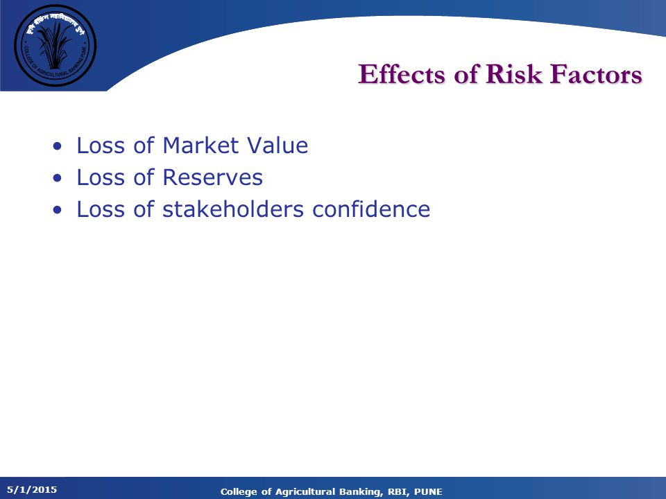 Effects of Risk Factors