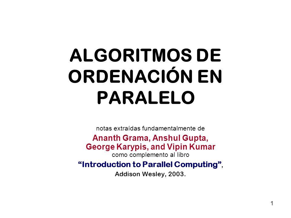 ALGORITMOS DE ORDENACIÓN EN PARALELO
