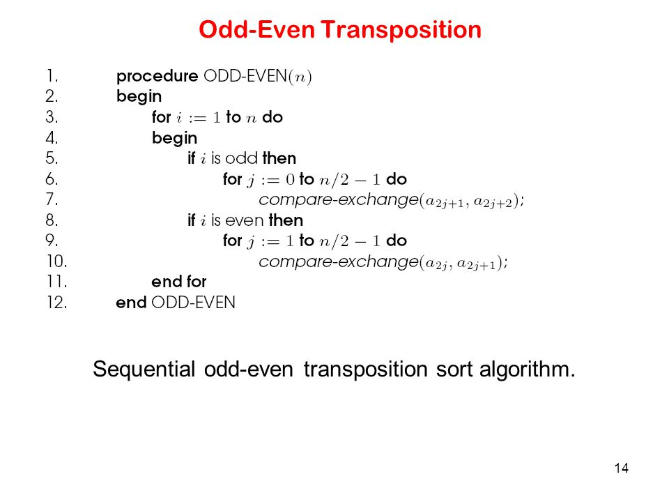 Odd-Even Transposition