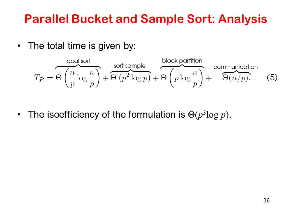 Parallel Bucket and Sample Sort: Analysis