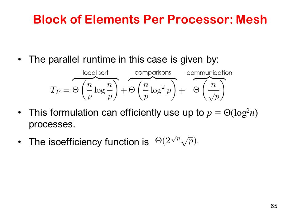 Block of Elements Per Processor: Mesh