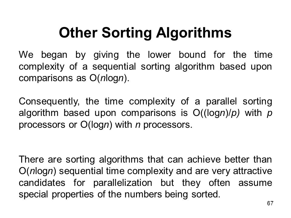 Other Sorting Algorithms
