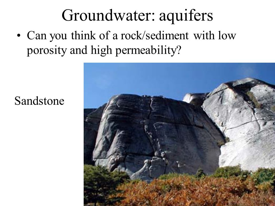 Groundwater: aquifers