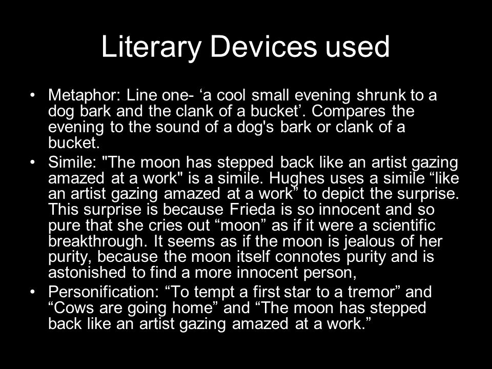 Literary Devices used