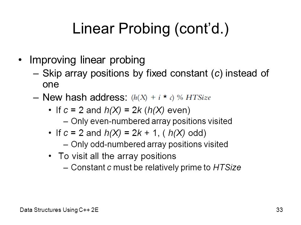 Linear Probing (cont'd.)