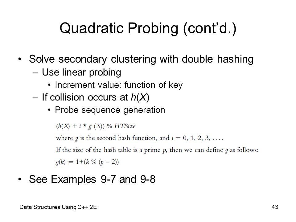 Quadratic Probing (cont'd.)