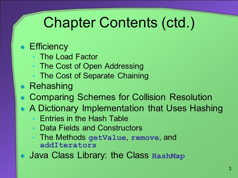 Chapter Contents (ctd.)