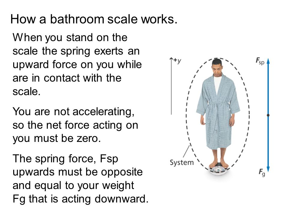 How a bathroom scale works.