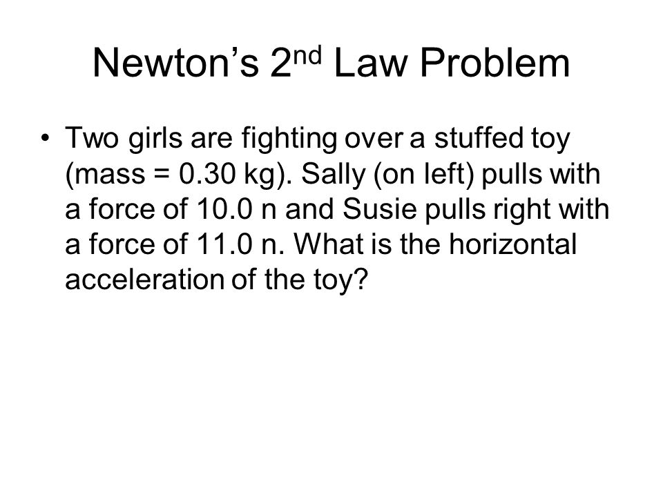 Newton's 2nd Law Problem
