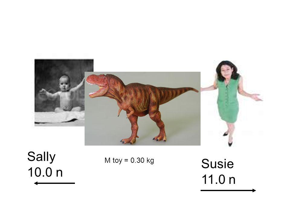 Sally 10.0 n M toy = 0.30 kg Susie 11.0 n