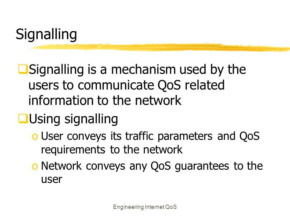 Engineering Internet QoS