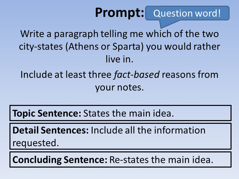 Prompt: Question word!