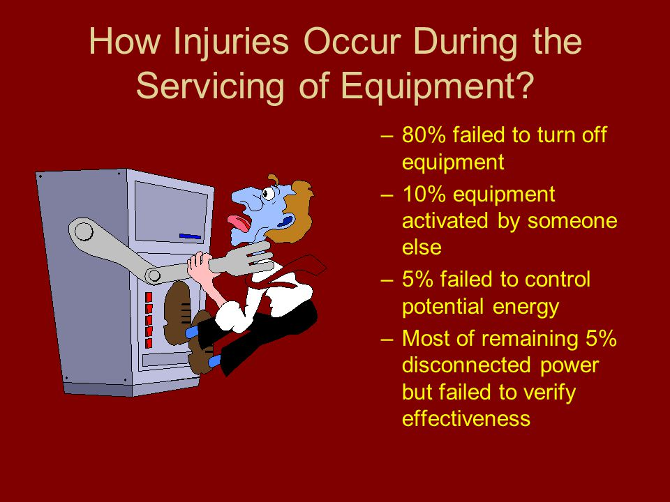 How Injuries Occur During the Servicing of Equipment