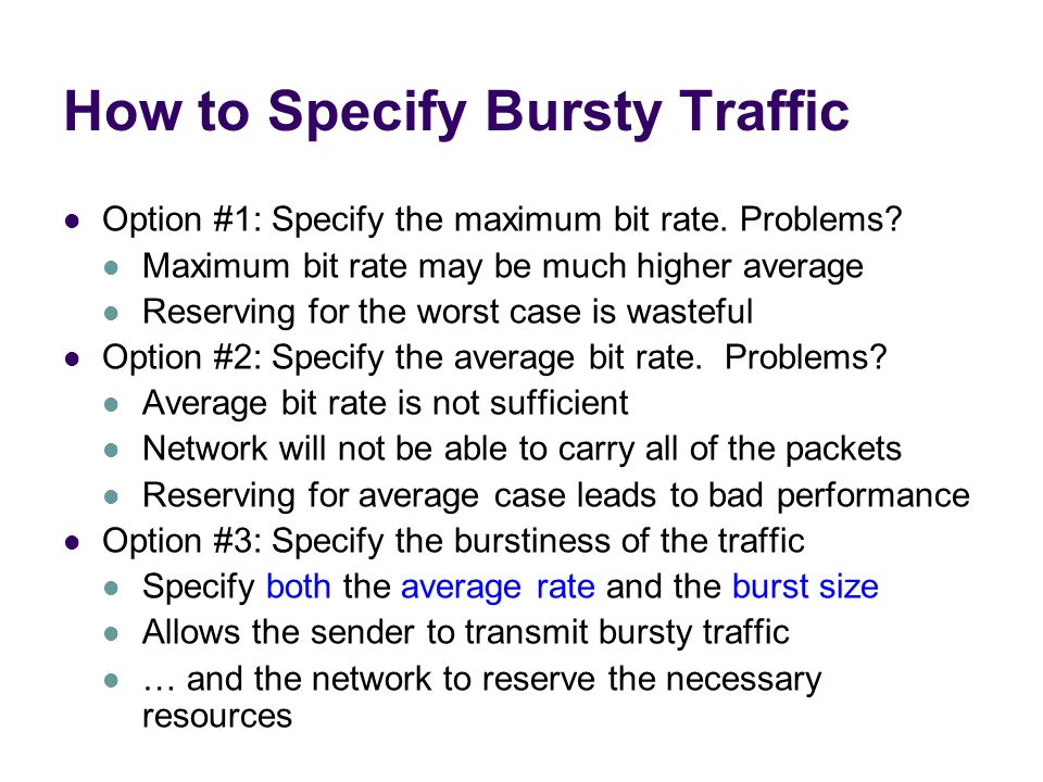 How to Specify Bursty Traffic