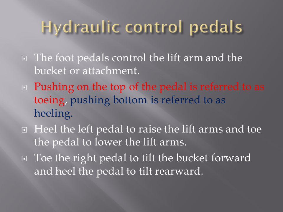 Hydraulic control pedals