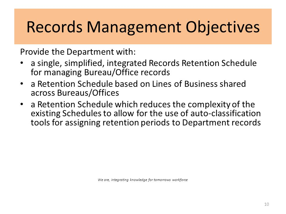 Records Management Objectives