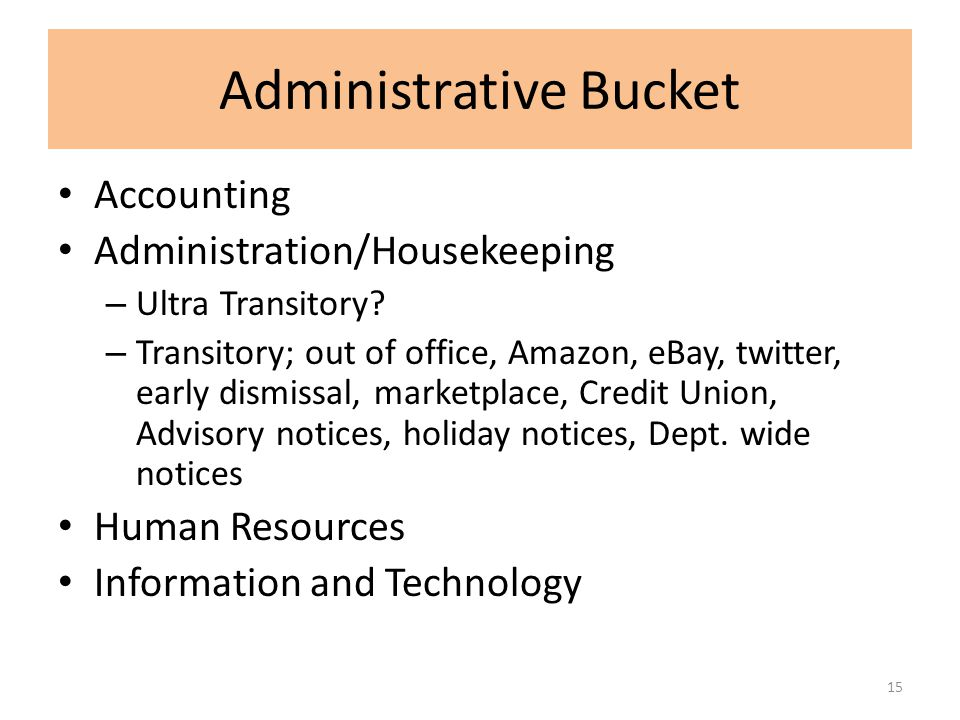Administrative Bucket