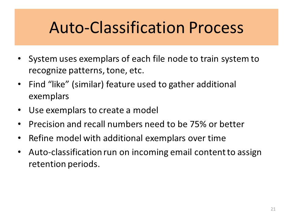 Auto-Classification Process
