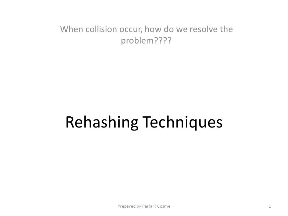 When collision occur, how do we resolve the problem