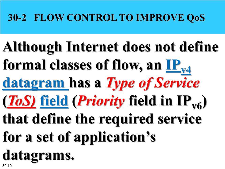 30-2 FLOW CONTROL TO IMPROVE QoS