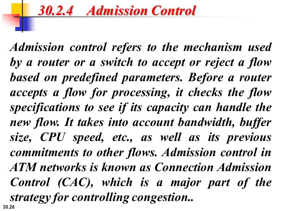 30.2.4 Admission Control