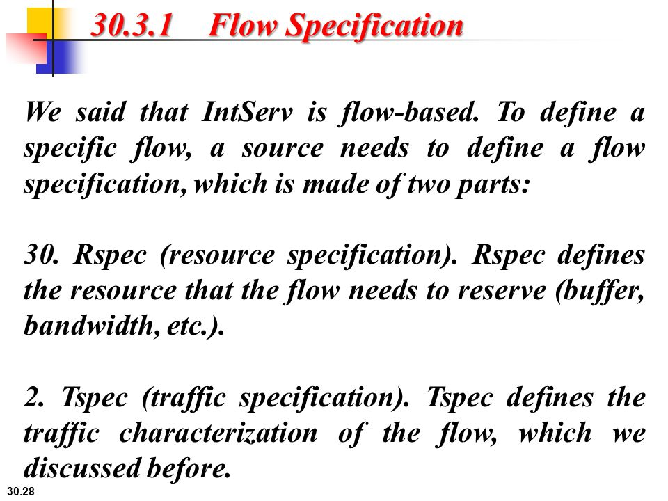 30.3.1 Flow Specification