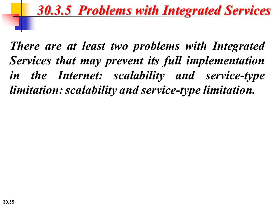 30.3.5 Problems with Integrated Services