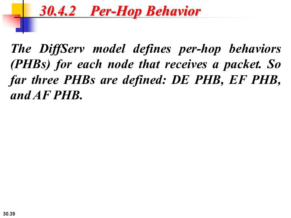 30.4.2 Per-Hop Behavior